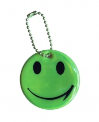 3M Reflective Pendant (green smiley)