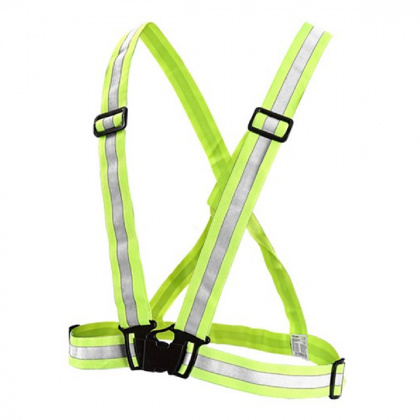 Reflective Elastic Suspenders (yellow)