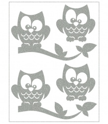 Reflective Iron-On Motifs (owls)