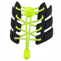 Reflective Elastic Shoe Laces (fluorescent yellow)
