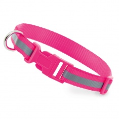Reflective Dog Collar (pink)